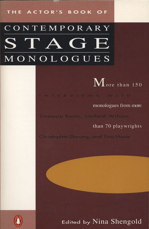 The Actor's Book of Contemporary Stage Monologues by