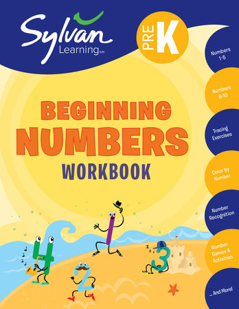 Pre-K Beginning Numbers Workbook by Sylvan Learning