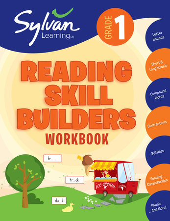 1st Grade Reading Skill Builders Workbook by Sylvan Learning