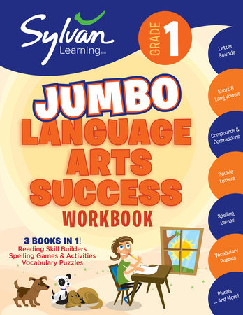 1st Grade Jumbo Language Arts Success Workbook by Sylvan Learning