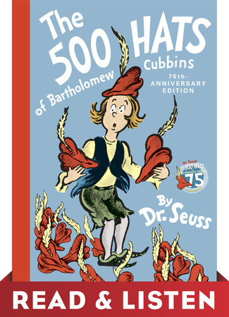 The 500 Hats of Bartholomew Cubbins: Read & Listen Edition Cover