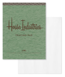 House Industries Tracing Pad