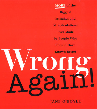 Wrong Again! by Jane O'Boyle