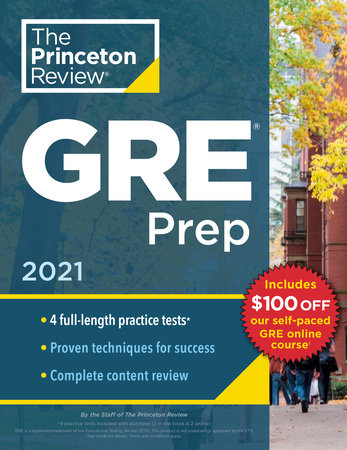 Princeton Review GRE Prep, 2021 by The Princeton Review
