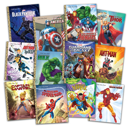 Marvel Little Golden Books Set by Various
