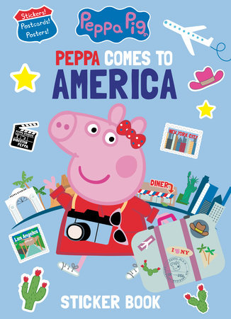 Peppa Comes to America Sticker Book (Peppa Pig) by Mary Man-Kong