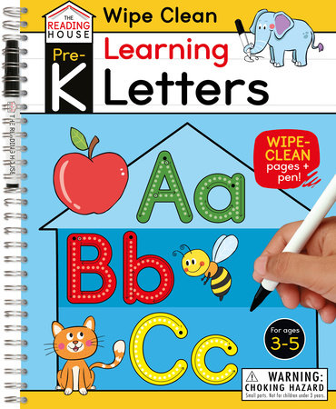 Learning Letters (Pre-K Wipe Clean Workbook) by Marla Conn and The Reading House