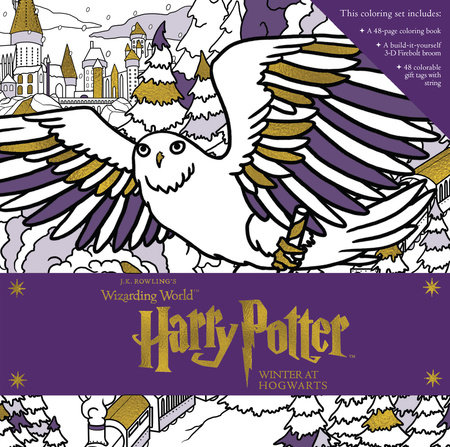 Harry Potter: Winter at Hogwarts: A Magical Coloring Set by