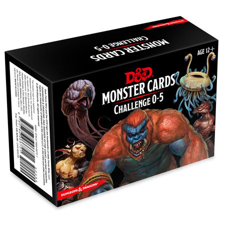 Dungeons & Dragons Spellbook Cards: Monsters 0-5 (D&D Accessory) by