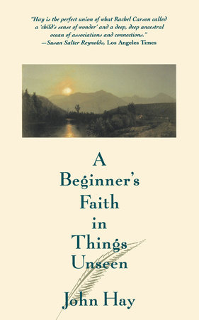 A Beginner's Faith in Things Unseen by John Hay