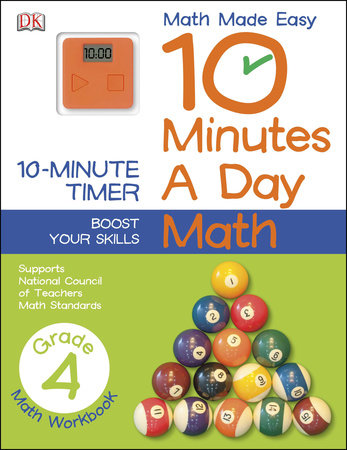 10 Minutes a Day: Math, Fourth Grade by DK