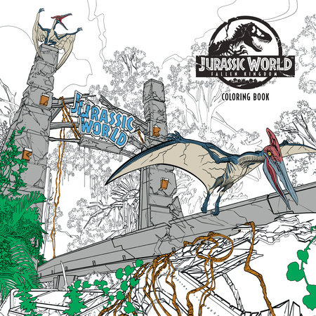 Jurassic World: Fallen Kingdom Adult Coloring Book by Universal Studios