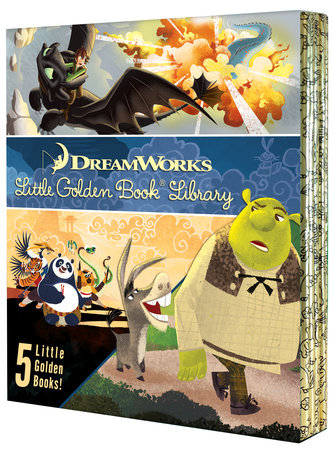 DreamWorks Little Golden Book Library 5-Book Boxed set by Various