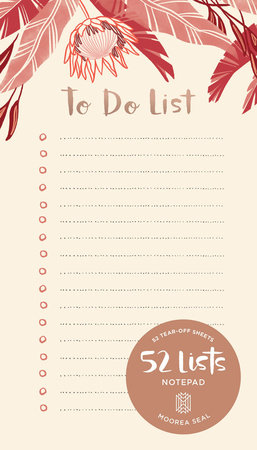 "52 Lists ""To Do List"" Notepad by Moorea Seal"