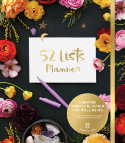 52 Lists Planner (Black Floral) Undated Monthly/Weekly Planner with Prompts for Well-Being, Reflection, Personal Growth, and Daily Gratitude