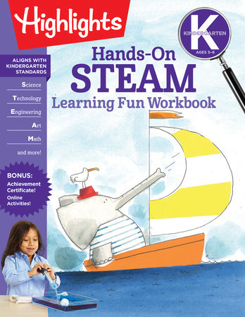 Kindergarten Hands-On STEAM Learning Fun Workbook