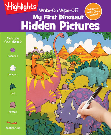 Write-On Wipe-Off My First Dinosaur Hidden Pictures by