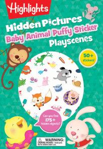 Baby Animal Hidden Pictures Puffy Sticker Playscenes