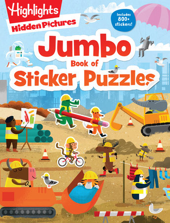 Jumbo Book of Sticker Puzzles by