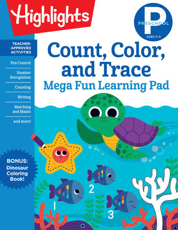 Preschool Count, Color, and Trace by Highlights Learning