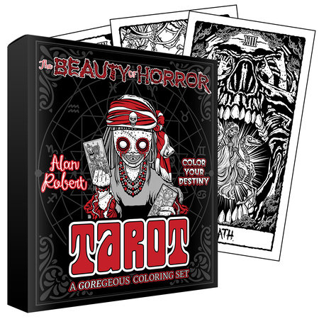The Beauty of Horror: Color Your Destiny Tarot Deck by