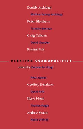 Debating Cosmopolitics by