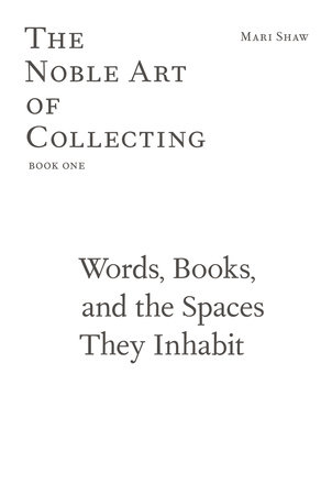 Words, Books, and the Spaces They Inhabit by Mari Shaw