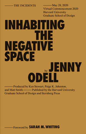 Inhabiting the Negative Space by Jenny Odell